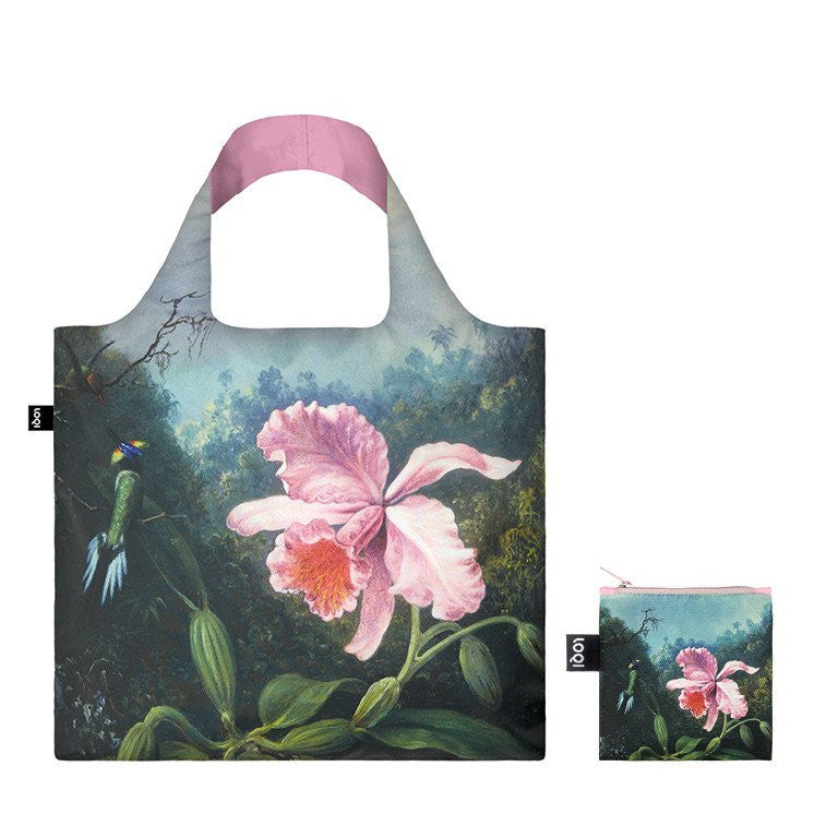Museum Heade Pair of Hummingbirds Foldable Bag with Zip Pouch