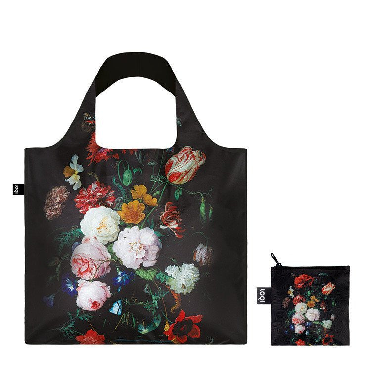 Museum De Heem Still Life With Flowers Foldable Bag with Zip Pouch