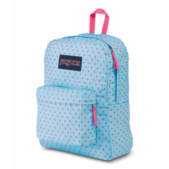 SuperBreak Backpack Blue Topaz/Lipstick Kiss Dot-O-Rama