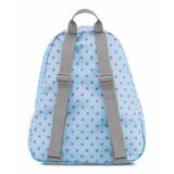 Half Pint Mini Backpack Blue Topaz/Lipstick Kiss Dot-O-Rama