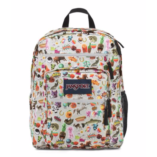 Big Student Backpack Multi Stickers