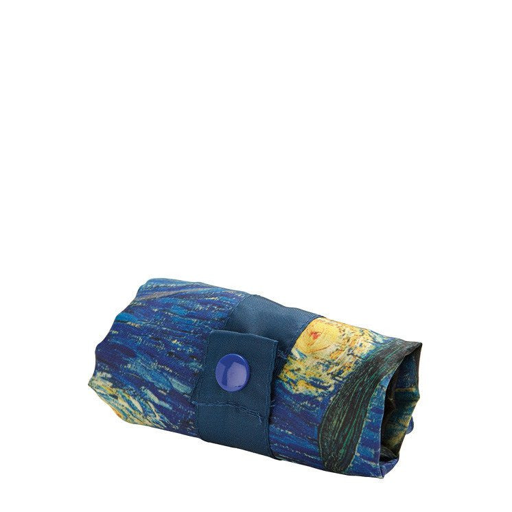 Museum Vincent Van Gogh The Starry Night Foldable Bag with Zip Pouch