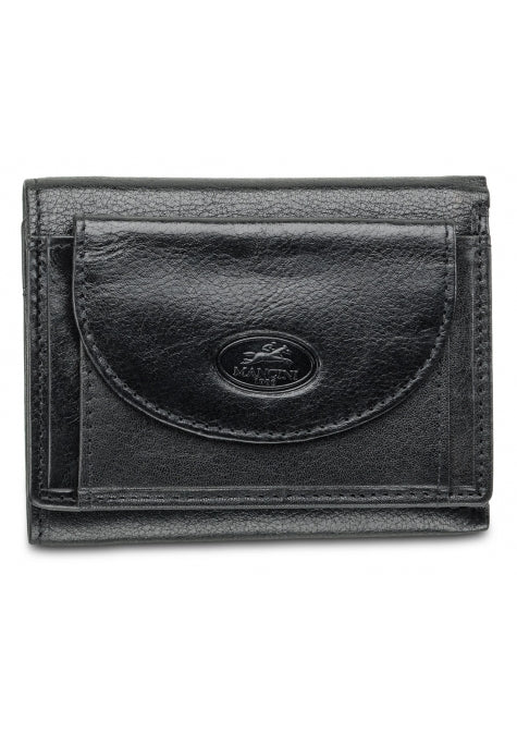 Equestrian 2 RFID Secure Trifold Wing Wallet Black