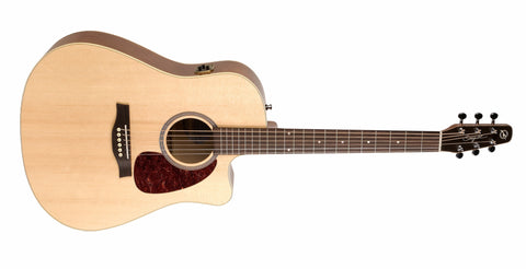 Seagull Entourage Natural Spruce CW QI With SKB Hard Case