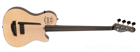 Godin A4 Ultra Semi-Acoustic Fretless Bass With Deluxe Gig Bag