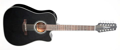 Takamine GD30CE 12 String BLK With Takamine Hard Case