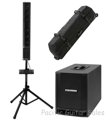 Fishman SA 330x SA+6+SUB Bundle Portable PA System 7 CH. 1260 Watts Peak Power!
