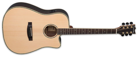 Tombstone ESP D-430E NAT Acoustic-Electric Dreadnought With SKB Hard Case
