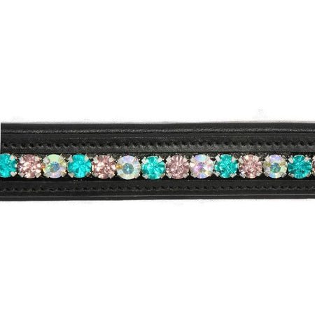 Crystal Bling Browband - Elegant Greens-Capaillíní Equestrian Collection