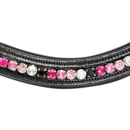 Crystal Bling Browband - Fuchsia-Capaillíní Equestrian Collection