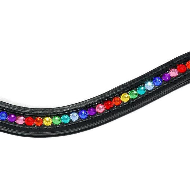 Crystal Bling Browband - Rainbow-Capaillíní Equestrian Collection