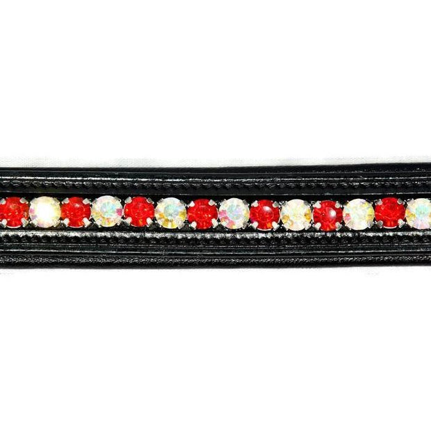 Crystal Bling Browband - Red / Crystal-Capaillíní Equestrian Collection