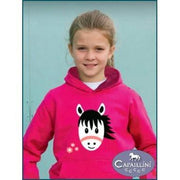 Cute Pony Hoodie with Flowers-Capaillíní Equestrian Collection