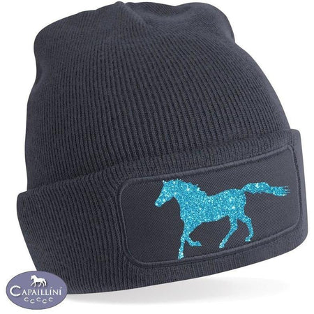 Glitter Horse Hat - Blue-Capaillíní Equestrian Collection
