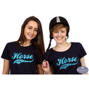 Horse Girls Glitter T-Shirt-Capaillíní Equestrian Collection
