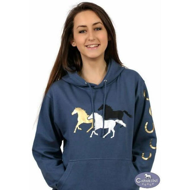 Horse Hoodie – Galloping Horses-Capaillíní Equestrian Collection