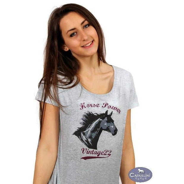 Horse Power Vintage Style T-Shirt-Capaillíní Equestrian Collection