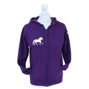 Horse Zip Hoodie with Hoofprint Sleeve Design-Capaillíní Equestrian Collection