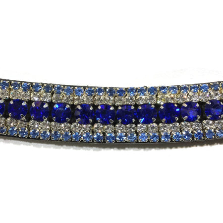 Mega Bling Browband - Blue Crystal-Capaillíní Equestrian Collection