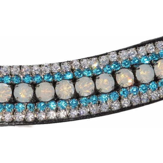 Mega Bling Browband - Crystal AB & Turquoise-Capaillíní Equestrian Collection