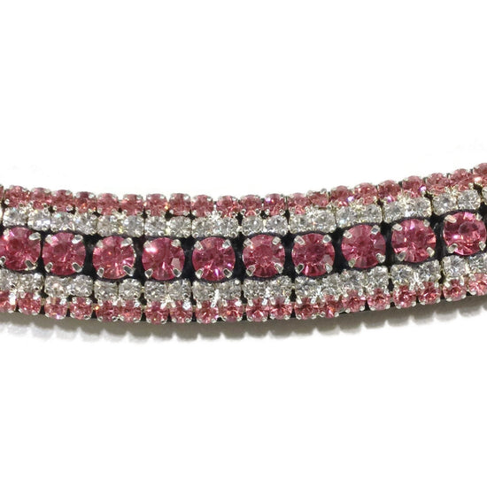 Mega Bling Browband - Pink Crystal-Capaillíní Equestrian Collection