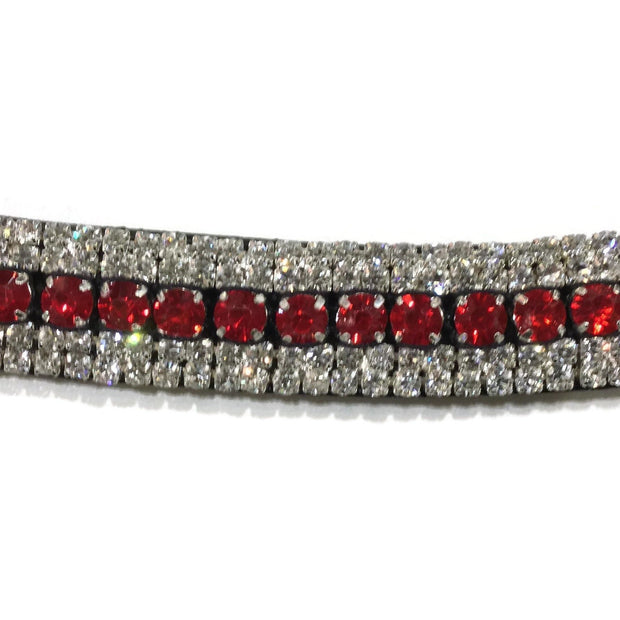 Mega Bling Browband - Red Crystal-Capaillíní Equestrian Collection