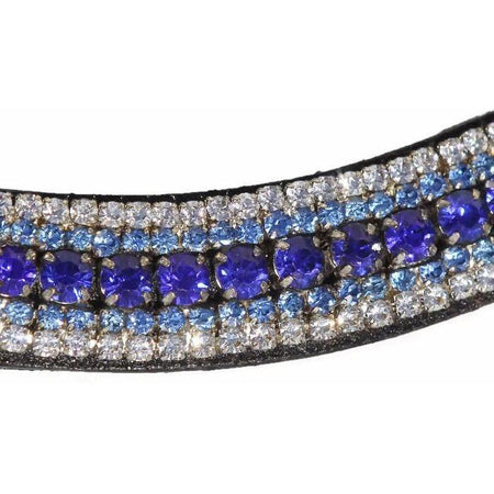 Mega Bling Browband - Sapphire-Capaillíní Equestrian Collection