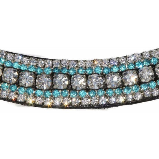 Mega Bling Browband - Turquoise Crystal-Capaillíní Equestrian Collection