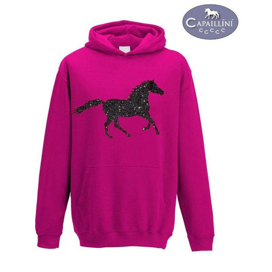 Pink Glitter Horse Hoodie-Capaillíní Equestrian Collection