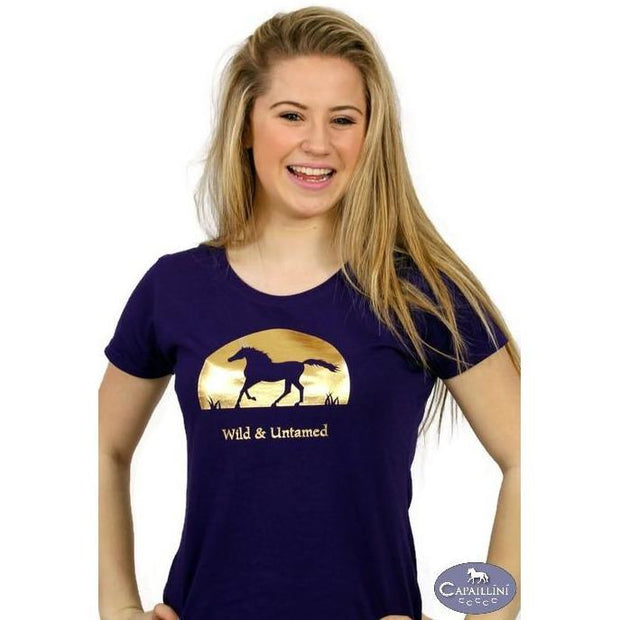 Wild and Untamed Horse T-shirt-Capaillíní Equestrian Collection