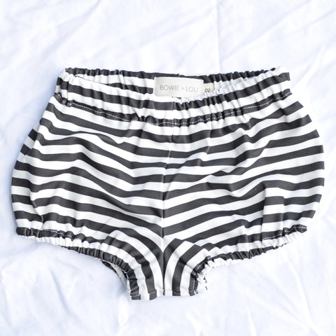 bloomers in organic stripes