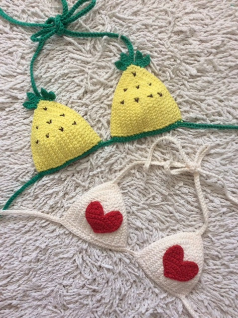 mommy pineapple bikini top