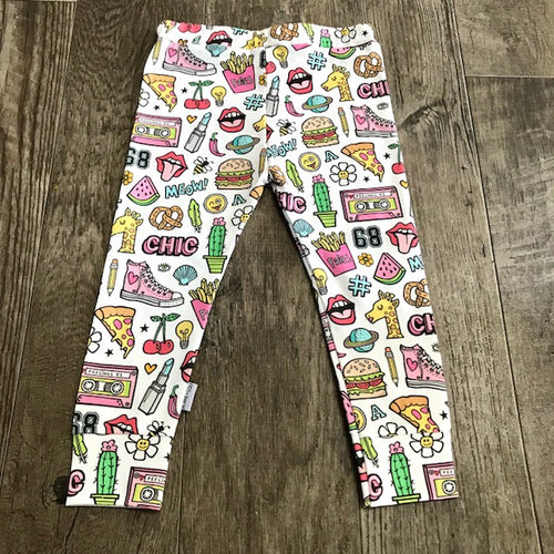 emoji organic leggings