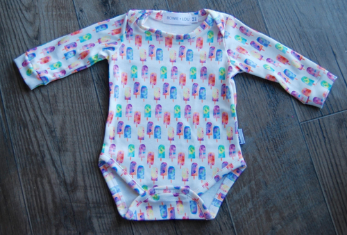 organic long sleeve onesie - MORE PRINTS AVAILABLE