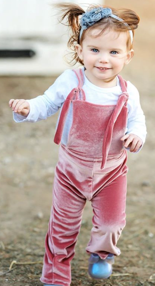velvet overalls in dusty rose