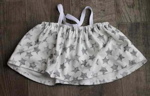 crop top in organic stars