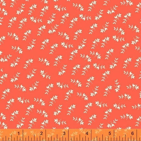 Petite Flowers in Coral: Maribel by Anna Wrigley for Windham Fabrics