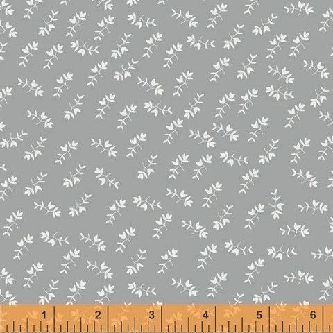 Petite Flowers in Grey: Maribel by Anna Wrigley for Windham Fabrics