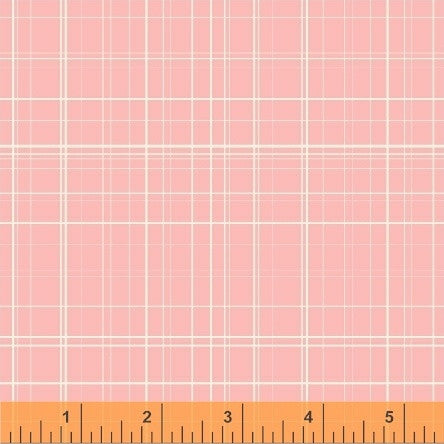 Grid in Pink: Maribel by Anna Wrigley for Windham Fabrics