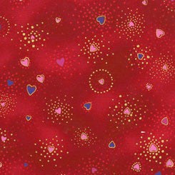 Red Hearts: Laurel Burch - Zoey and Bean Fabrics