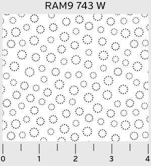 Ramblings White Dotted Circles - Zoey and Bean Fabrics - 1