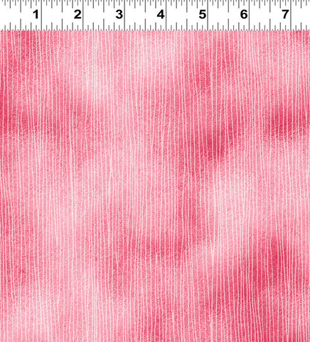 Coral Tonal Stripe: Tree Faeries by Masha D'Yans for Clothworks Fabric