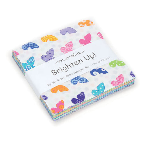 Moda Brighten Up Charm Pack by Me and My Sister Designs - Zoey and Bean Fabrics - 1
