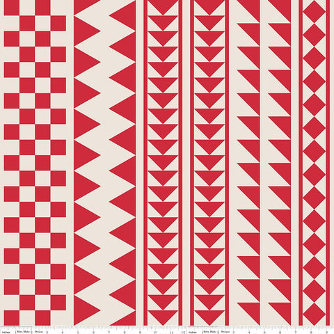 Sashing Stash Focus Fabric in Red by Eleanor Dugan for Riley Blake Fabrics - Zoey and Bean Fabrics