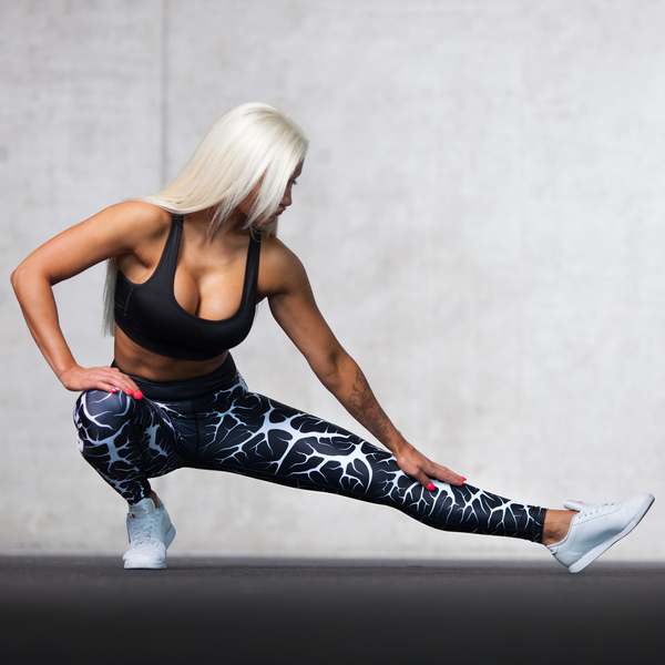 Cracked Leggings - Jet Black