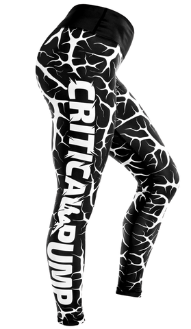 Cracked Leggings - Jet Black - Critical Pump
