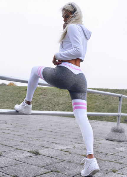 Split Leggings - Baby Pink - Critical Pump