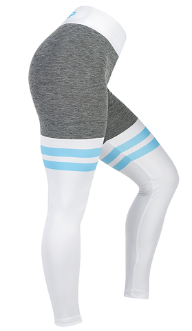 Split Leggings - Baby Blue