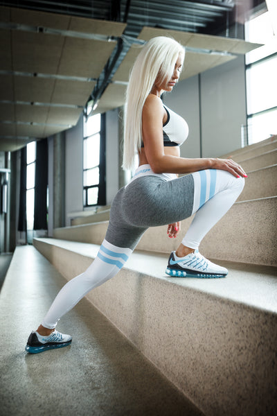 Split Leggings - Baby Blue - Critical Pump