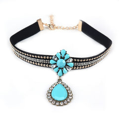 Flower Power Choker - 4 Color Options